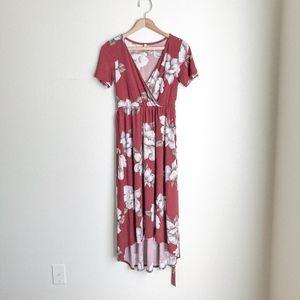 Pink Blush floral dress. Sz S
